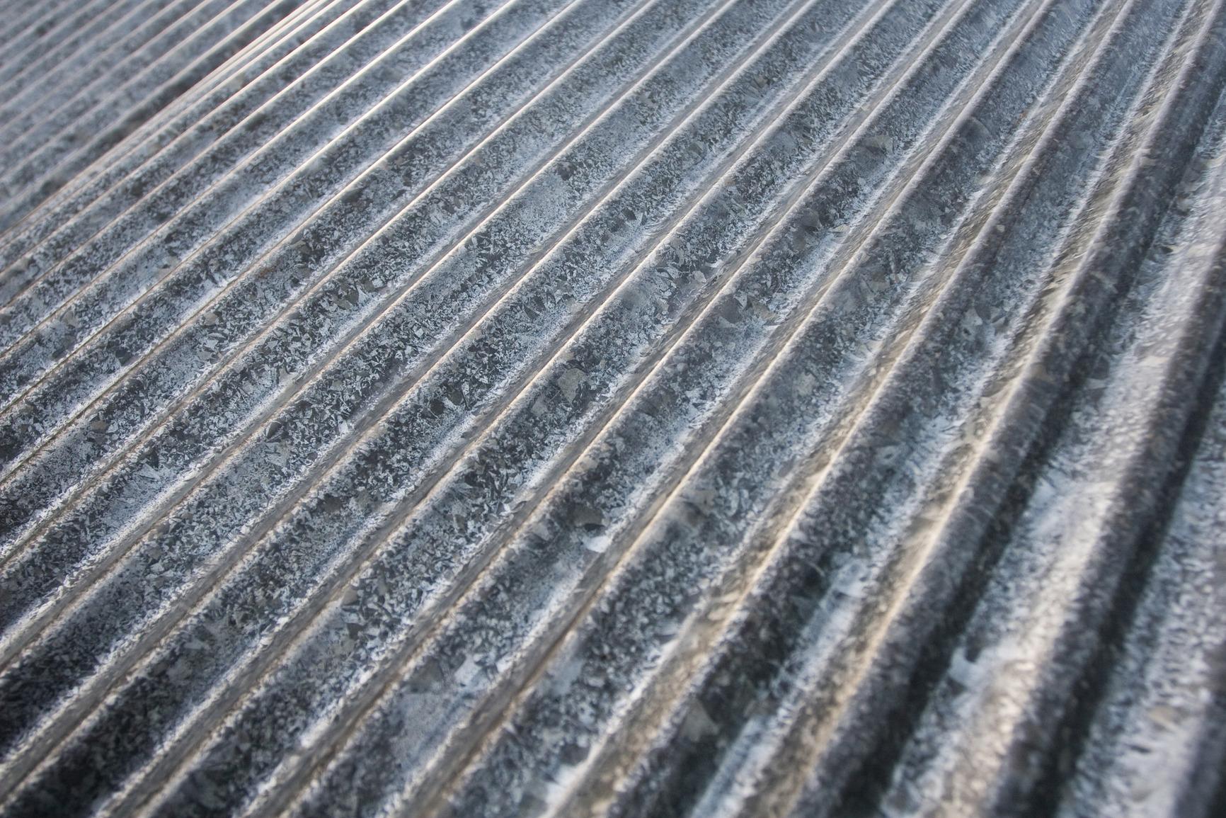 Oude zink platen